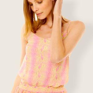 NWT Generation Love Juliana Cami Neon Snake Pink